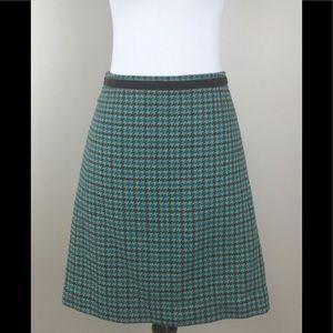 SOLD Banana republic wool skirt a-line blue brown